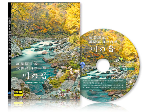 『環境音・ASMR』紅葉深まる飛騨高山の自然・川の音【BD版】